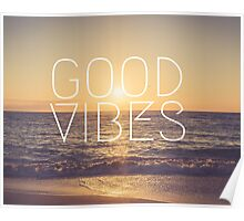 Good Vibes Sunset Poster