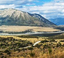 New Zealand's southern alps by Roger Neal