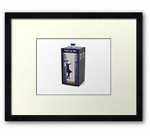 dr and the tardis Framed Print