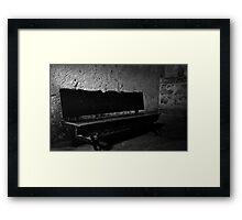 Bench In Low Light Framed Print