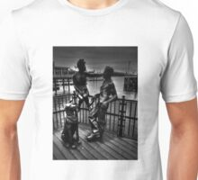 Sculptures At Mermaid Quay Cardiff Wales Unisex T-Shirt