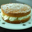 Victoria Sponge with Apple and Cream by BlueMoonRose