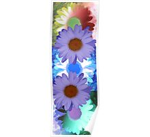 Vertical Daisy Collage I Poster