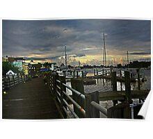 Front Street Dock - Georgetown, S.C. Poster