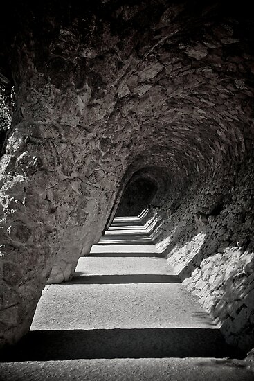 Parc Guell, Arch by Gaudi by Gayan Benedict