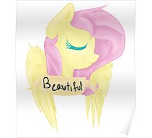 """Beautiful"" Fluttershy Poster"