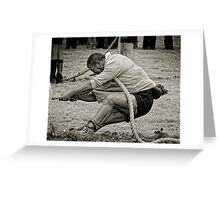 The Anchor Man, Tug of War, New Ross, County Wexford, Ireland Greeting Card