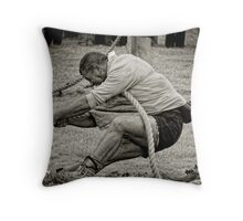 The Anchor Man, Tug of War, New Ross, County Wexford, Ireland Throw Pillow