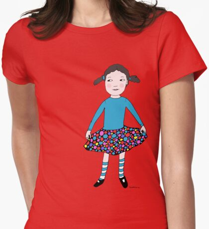 Jean loves her new skirt! Womens Fitted T-Shirt