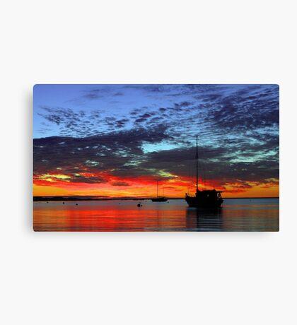 Boats At Dusk  Canvas Print