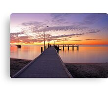 Esplanade Jetty At Dusk  Canvas Print