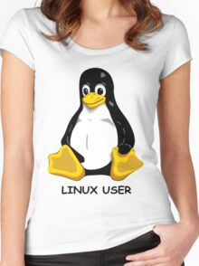 Linux User Women's Fitted Scoop T-Shirt