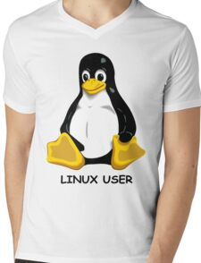 Linux User Mens V-Neck T-Shirt