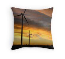 Sunrise Windfarm Throw Pillow