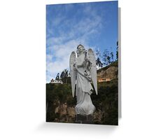 ANGEL SCULPTURE COLOMBIA Greeting Card