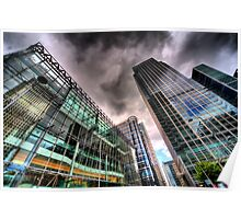 Canary Wharf, London in HDR Poster