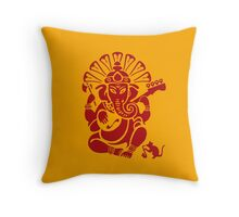 Ganesh plugged in Throw Pillow