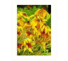 Flower Field - Fractalius Style Art Print