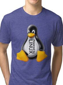 Powered by Linux Tri-blend T-Shirt