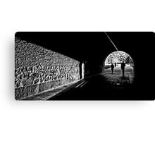 Tunnel light Canvas Print