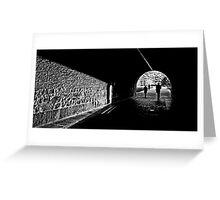 Tunnel light Greeting Card