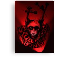 Skull 'n Cross Bones..Red Canvas Print