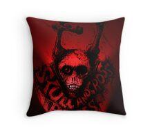 Skull 'n Cross Bones..Red Throw Pillow