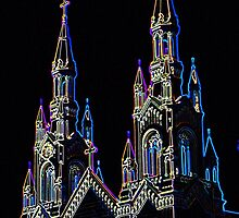 Neon Church by UViolet