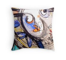heart shaped smile Throw Pillow