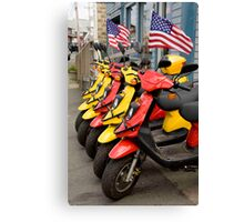 Mopeds To Go Canvas Print