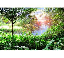 Streaming Hawaiian Sunlight Landscape Photographic Print