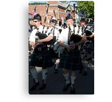 Bag Pipers Four Canvas Print