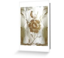 White flower with Ghost Guardians. Greeting Card