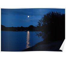 Luss Pier at Midnight Poster