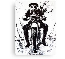WW1 Biker Canvas Print