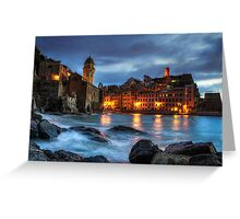 Vernazza Night Greeting Card