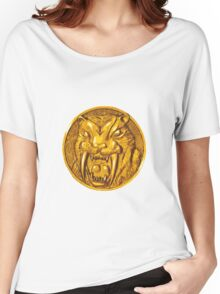 Mighty Morphin Power Rangers Yellow Ranger Saber Tooth Tiger Women's Relaxed Fit T-Shirt