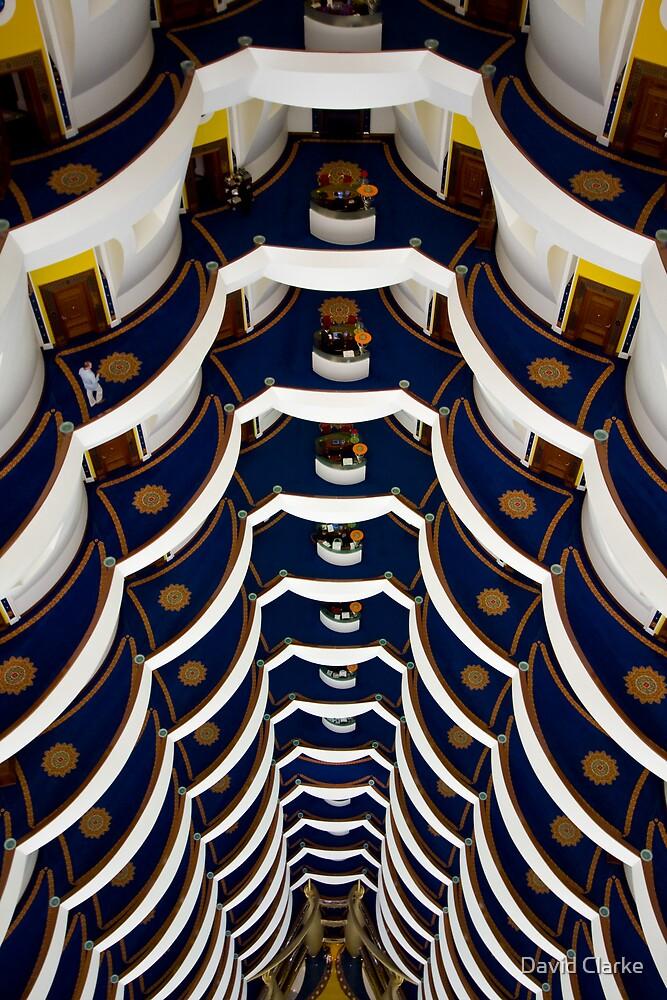 Burj Al Arab - interior 3 by David Clarke