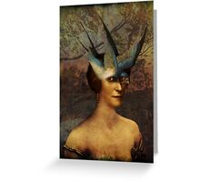 Bird Woman Greeting Card