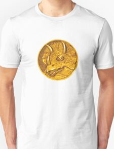 Mighty Morphin Power Rangers Blue Ranger Triceratops Coin T-Shirt