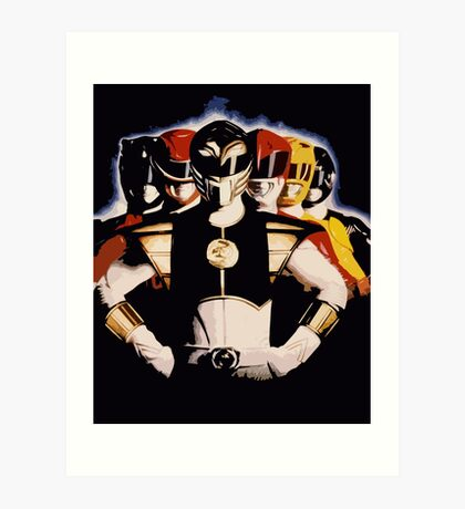 Mighty Morphin Power Rangers 2 Art Print