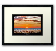 Almost disappeared....... Framed Print