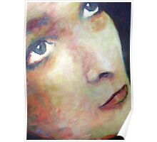 Lucy: Portrait Painting of Girls Face Poster