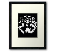 Mighty Morphin Power Rangers 2 Black/White Framed Print