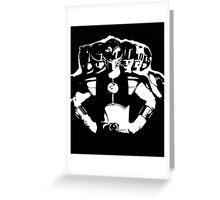 Mighty Morphin Power Rangers 2 Black/White Greeting Card