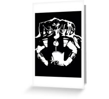 Mighty Morphin Power Rangers 2 Black/White Greeting Card