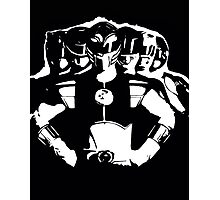 Mighty Morphin Power Rangers 2 Black/White Photographic Print