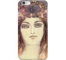 MYSTIC EYES - BEAUTIFUL ART NOUVEAU WOMAN with Flowers in the Hair iPhone Case/Skin