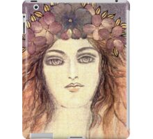 MYSTIC EYES - BEAUTIFUL ART NOUVEAU WOMAN with Flowers in the Hair iPad Case/Skin