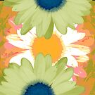 Vertical Daisy Collage II by Ruth Palmer